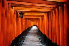 Tori Gate in Fushimi Inari, Kyoto Royalty Free Stock Photography