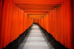 Tori Gate at Fushimi Inari, Kyoto Stock Photography