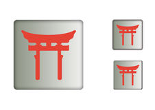 Tori Gate Icons Concept Stockbilder