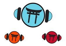 Tori Gate logo Concept Stock Photos