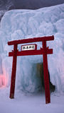 Tori gate in winter festival Stock Image