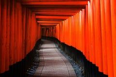 Tori Gates in Fushimi Inari, Kyoto Royalty Free Stock Photos