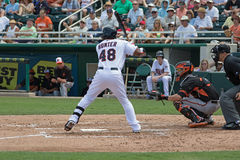 Tori Hunter of the Minnesota Twins Stock Image