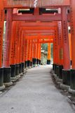 Tori Path in Fushimi Inari Royalty Free Stock Photos