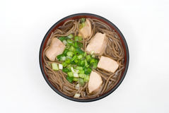 Tori-soba noodles Stock Photos