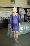Tori Spelling promoting her new book. Royalty Free Stock Photos