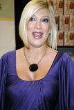 Tori Spelling promoting her new book. Royalty Free Stock Images