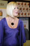 Tori Spelling promoting her new book. Royalty Free Stock Image