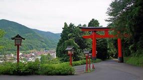 Tori Taikodani Inari świątynia w Tsuwano obraz royalty free