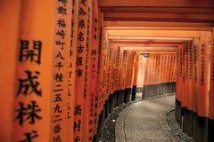 Tori versehen in Japan mit einem Gatter Lizenzfreie Stockfotos