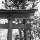 Tori. Wood aged japan japanese misawa tohoku Stock Images