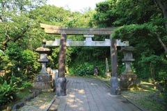 torii фонариков каменное Стоковая Фотография