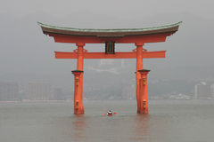 Torii arch in Miyajima Royalty Free Stock Photos
