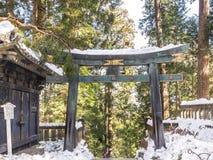 Torii brama w Toshogu świątyni, Nikko zdjęcie royalty free
