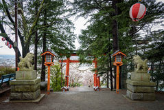 Torii at chureito pagoda Royalty Free Stock Photos