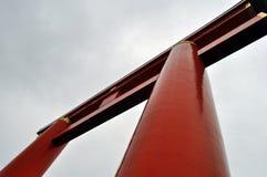 Torii contra el cielo Foto de archivo libre de regalías
