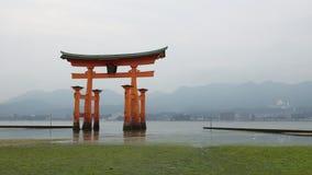 Torii de la capilla de Itsukushima Imagen de archivo
