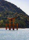 Torii em Miyajima Fotografia de Stock Royalty Free