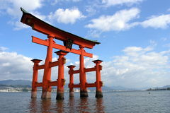 Torii en Miyajima Fotos de archivo libres de regalías