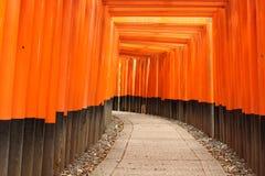 torii för fushimiinarirelikskrin Royaltyfria Bilder