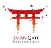 torii för portjapan origami Arkivfoto