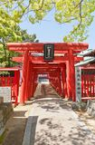Torii of Fukiage Shinto Srine in Imabari, Japan Stock Photo
