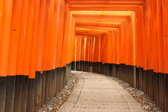 Torii Fushimi Inari am Schrein Lizenzfreie Stockbilder