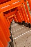 Torii fushimi-Inari Taisha Obraz Stock