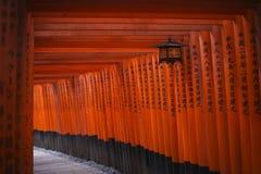Torii at Fushimi Inari-taisha shrine, Kyoto Stock Photo