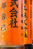 Torii at Fushimi Inari Taisha shrine Royalty Free Stock Photos