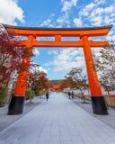 Torii gate at Fushimi Inari shrine in Kyoto Stock Photography