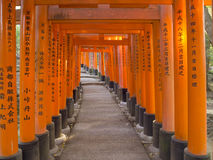 Torii gate at Fushimi Inari Shrine, Kyoto Royalty Free Stock Image