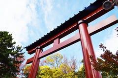 Torii gate of Japanese shrine royalty free stock photography