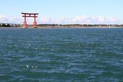 Torii gate on Hamanako lake in Hamamatsu, Shizuoka Stock Images