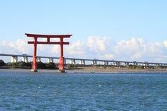 Torii gate on Hamanako lake in Hamamatsu, Shizuoka Royalty Free Stock Photos