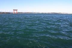 Torii gate on Hamanako lake in Hamamatsu, Shizuoka Stock Image