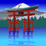 Torii gate, Japan. Vector illustration Royalty Free Stock Images