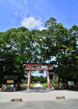 Torii gate of Kamigamo Shrine Kyoto Japan. Stock Image