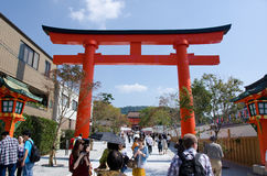 Torii gate in Kyoto Stock Images