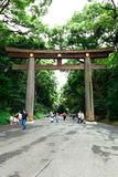 Torii Gate at Meiji Jingu Royalty Free Stock Photography