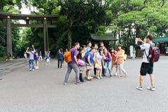 Torii Gate of Meiji Shrine in Tokyo Royalty Free Stock Image