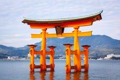 Torii Gate, Miyajima island, Hiroshima, Japan Stock Photo