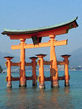 Torii Gate at Miyajima Island, Japan Royalty Free Stock Photo