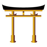 Torii gate over white Royalty Free Stock Image