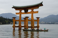 Torii Gate in sea Royalty Free Stock Photos