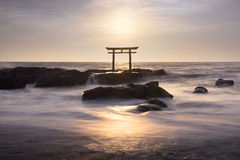 Torii Gate on the sea Royalty Free Stock Images