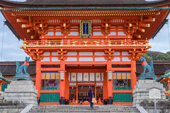 Torii gates in Fushimi Inari Shrine Stock Photography