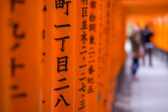 Torii gates at Fushimi Inari Shrine in Kyoto, Japan Royalty Free Stock Image