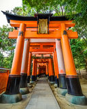 Torii gates at Fushimi Inari shrine in Kyoto Stock Photos