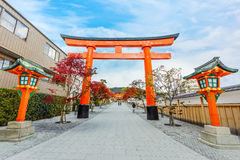 Torii gates at Fushimi Inari shrine in Kyoto Stock Photo